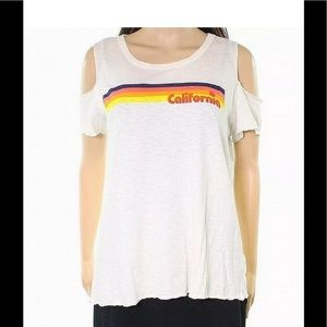 Sundry California Graphic Cold Shoulder Tee 2
